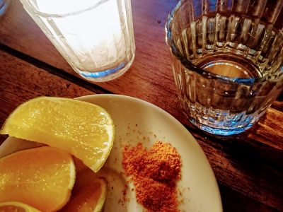 Mezcal with Orange