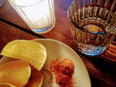 Mezcal with Orange